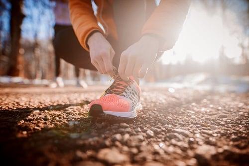 sneakers-walk-outside